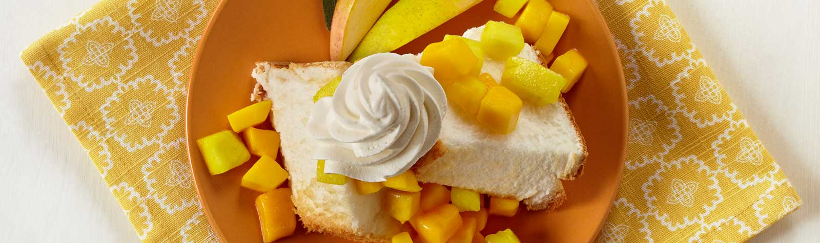 Angel Food Cake With Tropical Fruit