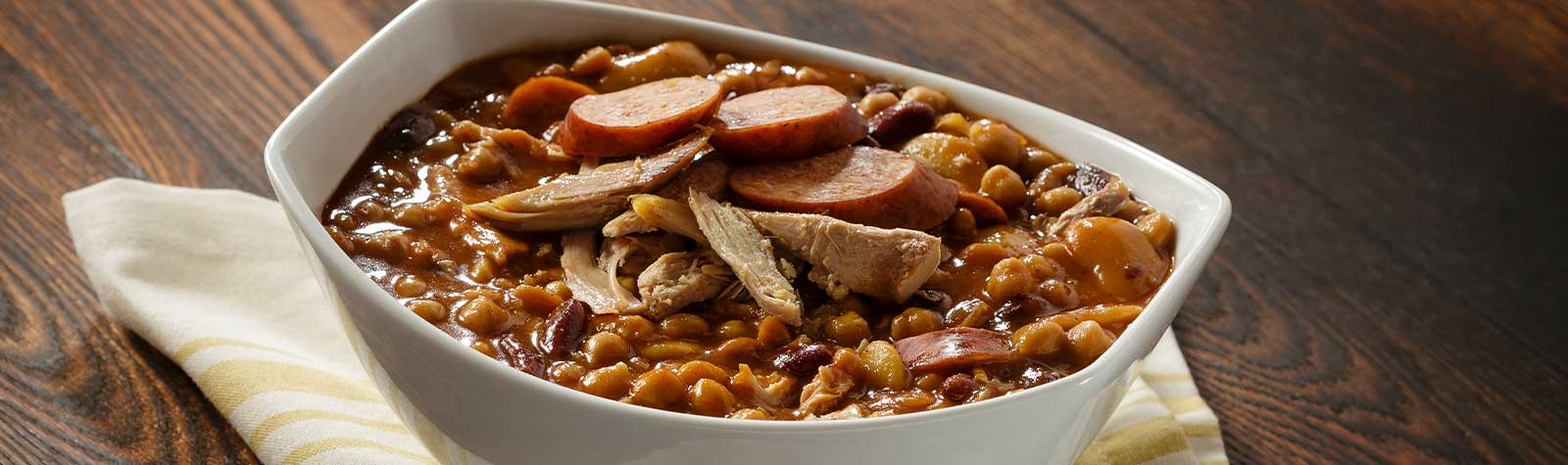Baked Beans with Smoked Turkey & Sausage