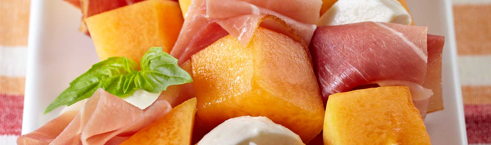 Cantaloupe and Prosciutto Skewers