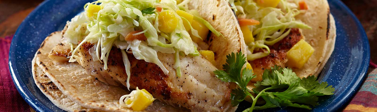 Fish Tacos With Pineapple Coleslaw