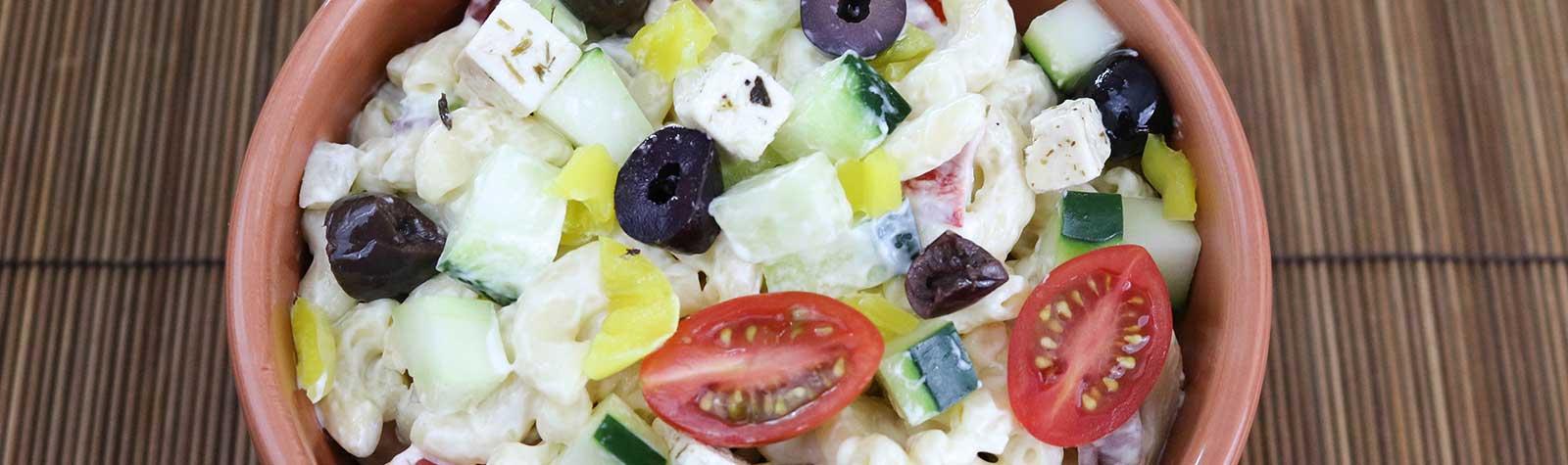 Greek Macaroni Salad