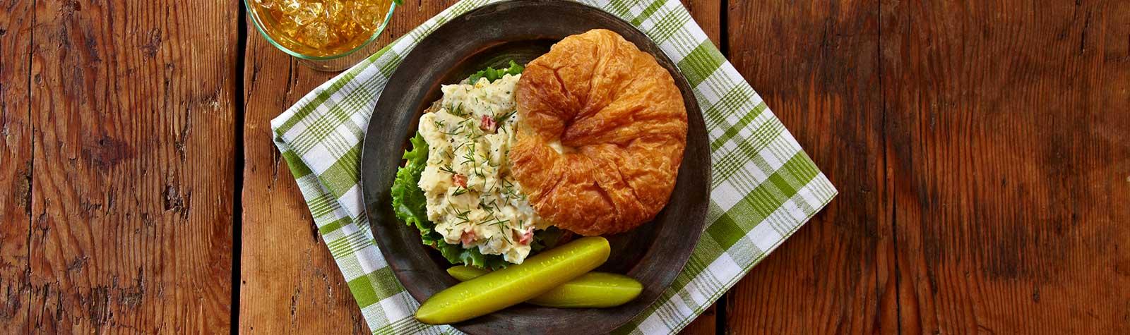 Potato Dill Salad Sandwich