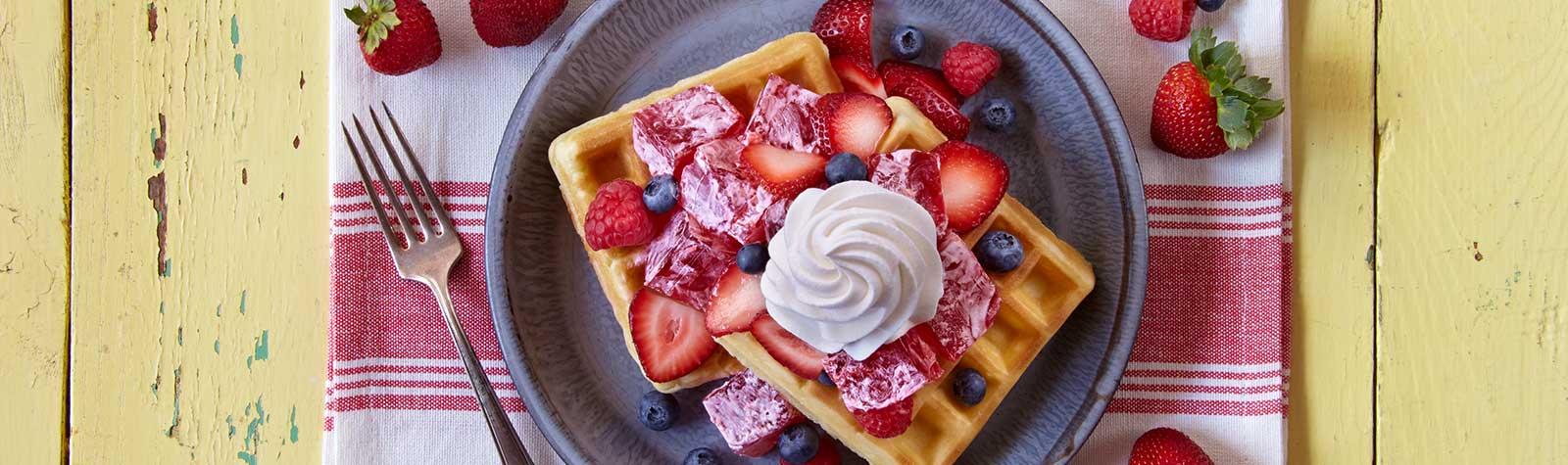 Strawberry Parfait Waffle